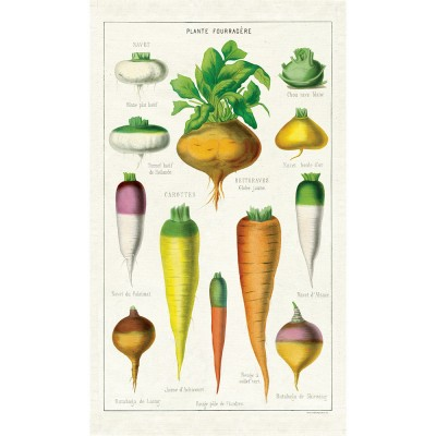 Cavallini & Co Tea Towel - Vegetables