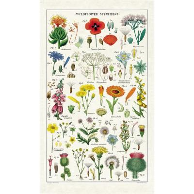 Cavallini & Co Tea Towel - Wildflowers