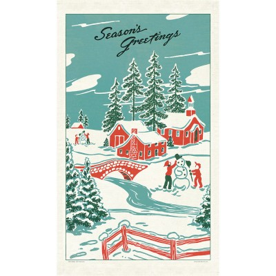 Cavallini & Co Tea Towel - Winter Wonderland