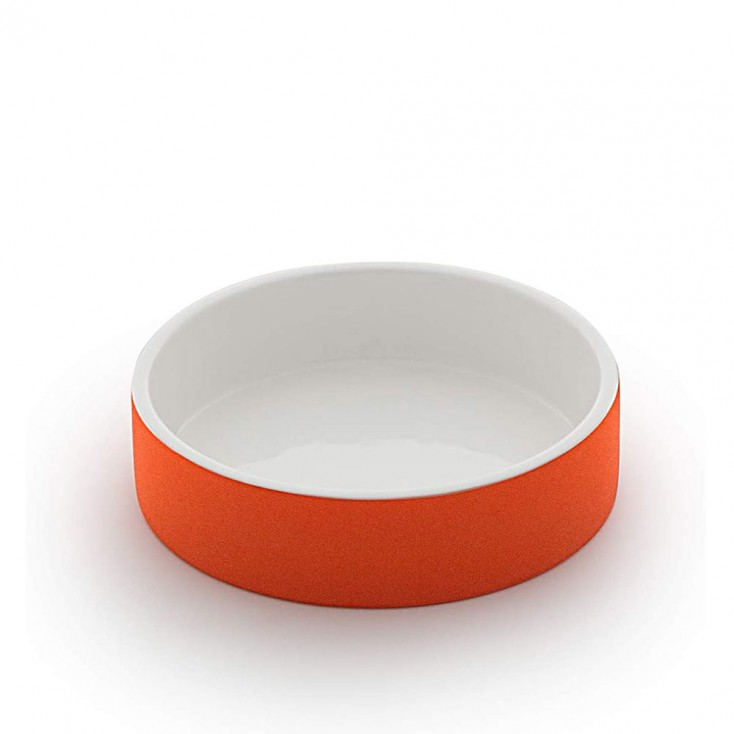 Paikka Extra-Small Soak-to-Cool Water Bowl - Tangerine