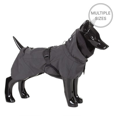 Paikka Visibility Dog Raincoat - Black