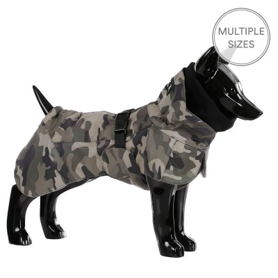 Paikka Visibility Reflective Winter Dog Coat - Camo