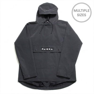 Paikka Visibility Reflective Unisex Human Raincoat - Black