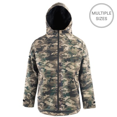 Paikka Visibility Reflective Human Raincoat - Camo
