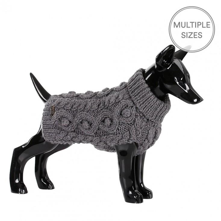 Paikka Knitted Dog Sweater - Grey