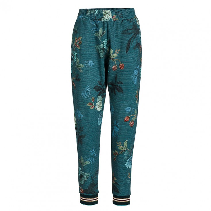 Leafy Stitch Blue Pyjama Trousers - Pip Studio