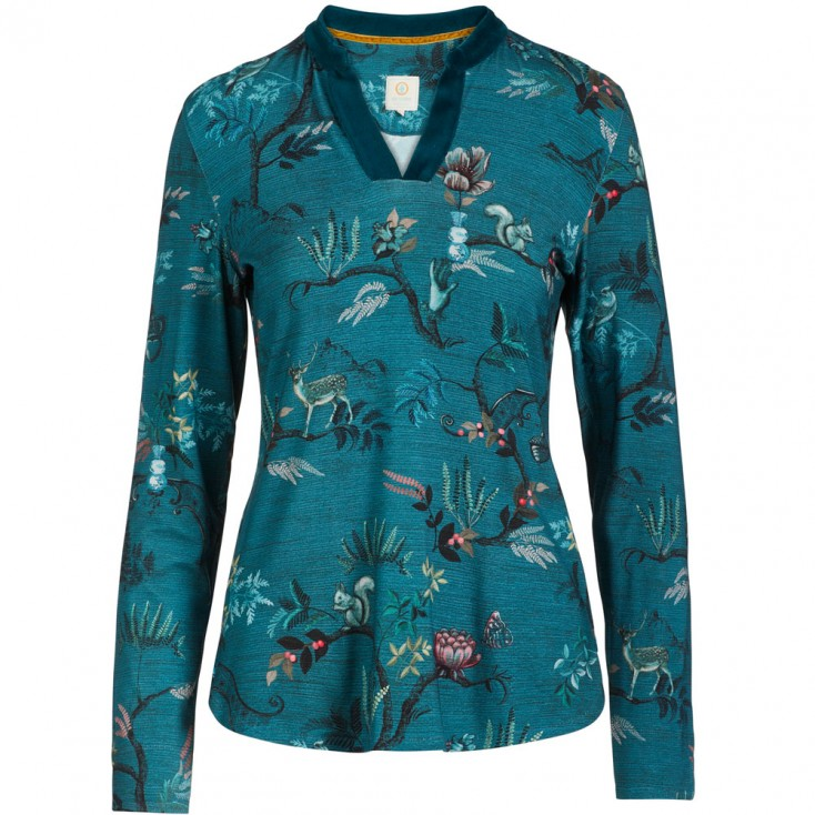 Woodland Nights Blue Loungewear Top - Pip Studio