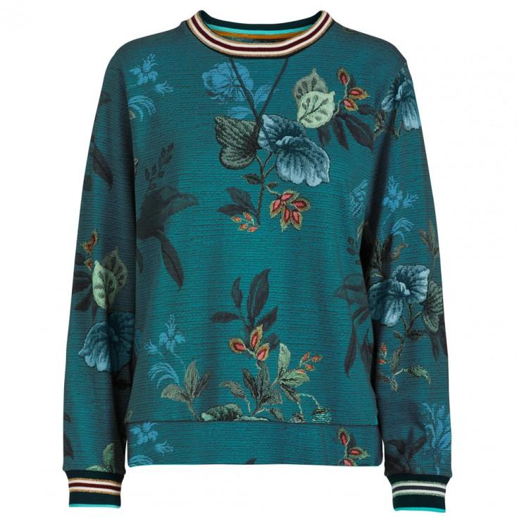 Leafy Stitch Blue Loungewear Top - Pip Studio