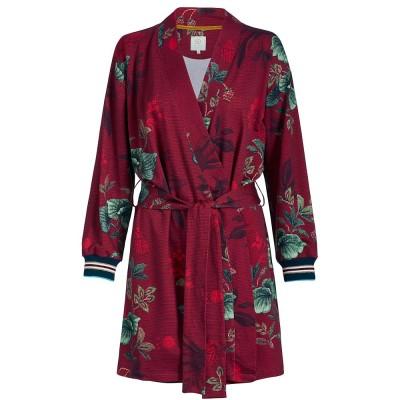 Leafy Stitch Red Kimono - Pip Studio