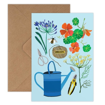 Brie Harrison Greeting Card - Garden Afternoon