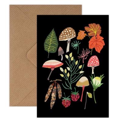 Brie Harrison Greeting Card - Mushrooms & Moss