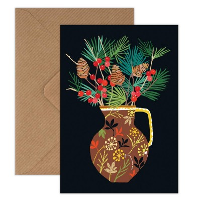 Brie Harrison Greeting Card - Berries & Fir