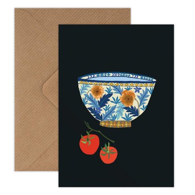 Brie Harrison Greeting Card - Bowl & Tomatoes