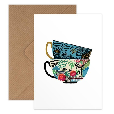 Brie Harrison Greeting Card - Willow Cups