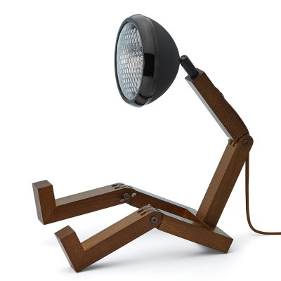 Mr. Wattson LED Table Lamp - Matt Black