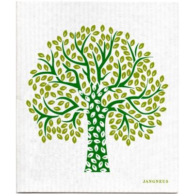 Jangneus Cellulose Dishcloth - Green Tree