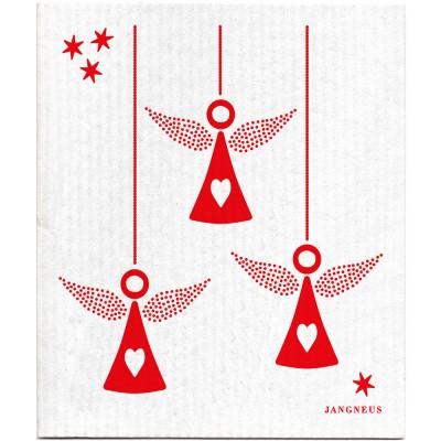 Jangneus Dishcloth - Red Angels