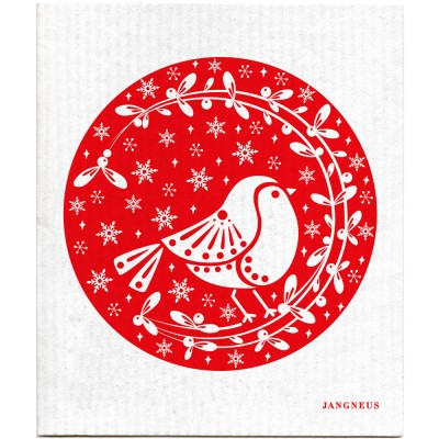 Jangneus Cellulose Dishcloth - Red Robin