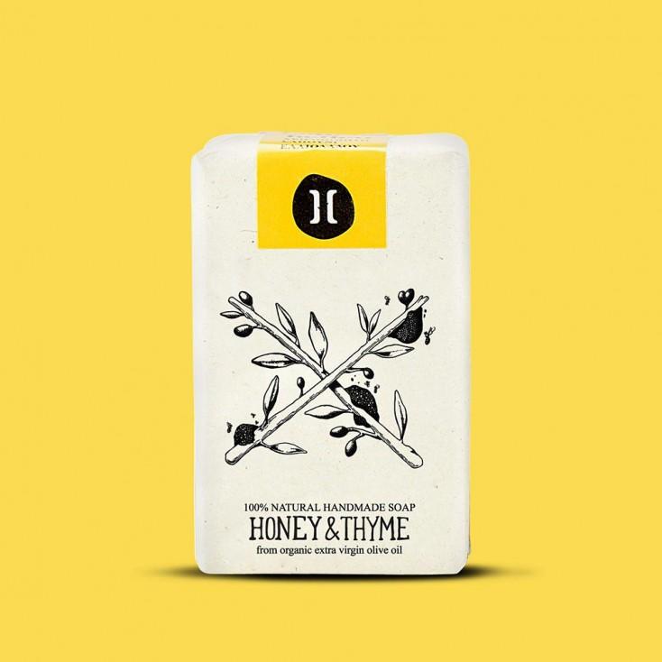 Helleo Olive Oil Soap Bar - Honey & Thyme