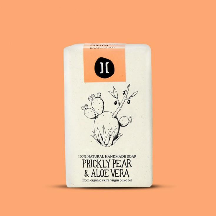 Helleo Olive Oil Soap Bar - Prickly Pear & Aloe Vera