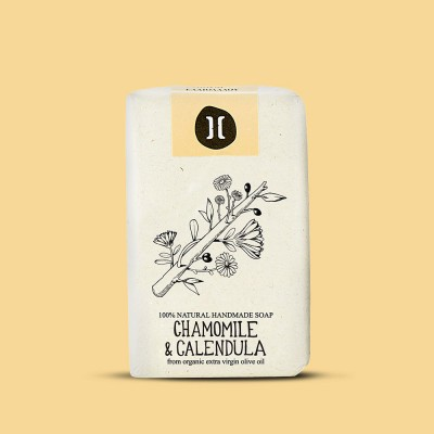 Helleo Olive Oil Soap Bar - Chamomile & Calendula