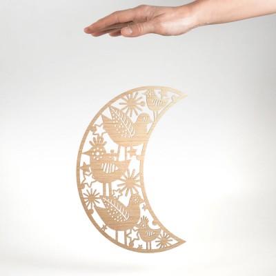 Etno Design Hanging Decoration - Twittering Moon 29cm