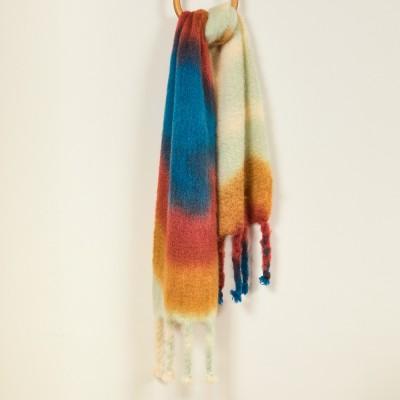Mantas Ezcaray Tie-Dye Mohair Scarf - Pheasant