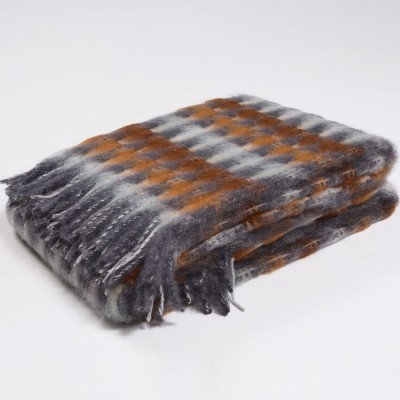 Mantas Ezcaray Mia Mohair Blanket - Slate