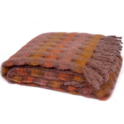 Mantas Ezcaray Mia Mohair Blanket - Pink Taupe