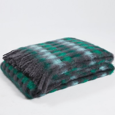 Mantas Ezcaray Mia Mohair Blanket - Emerald