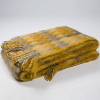 Mantas Ezcaray Mia Mohair Blanket - Mustard