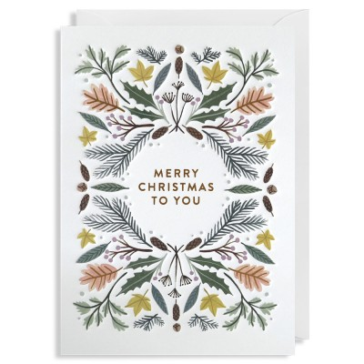 Merry Christmas to You Christmas Cards - Pack of 5