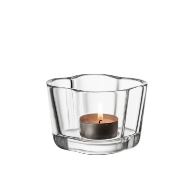 Iittala Alvar Aalto Collection Tealight Candleholder - Clear