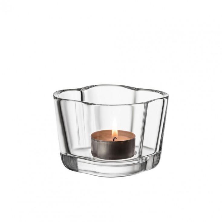 Iittala Alvar Aalto Collection Tealight Candleholder - Clear
