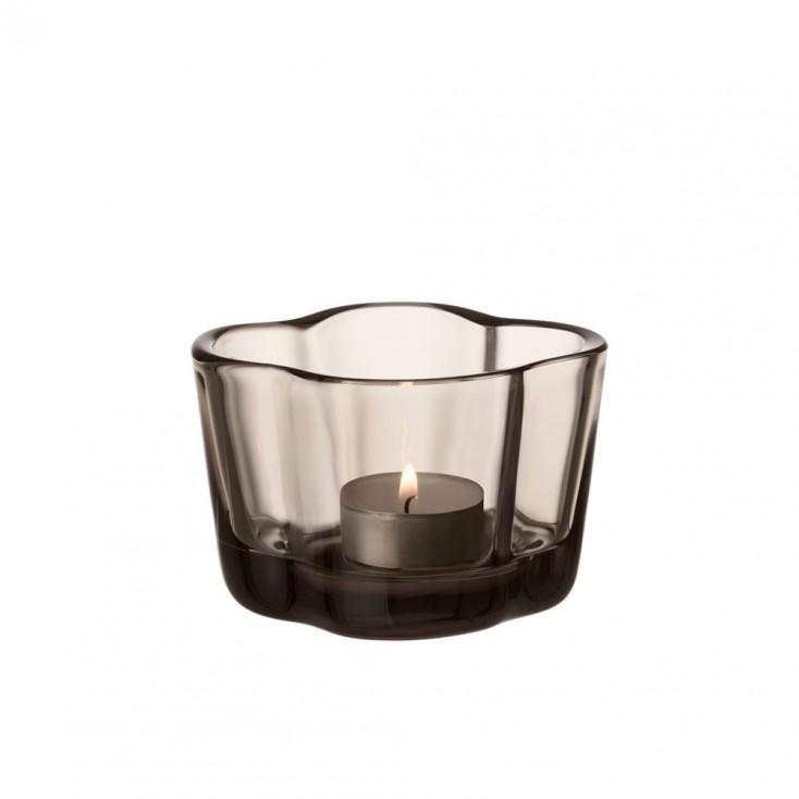 Iittala Alvar Aalto Collection Tealight Candleholder - Linen