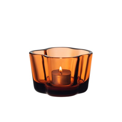 Iittala Alvar Aalto Collection Tealight Candleholder - Seville Orange