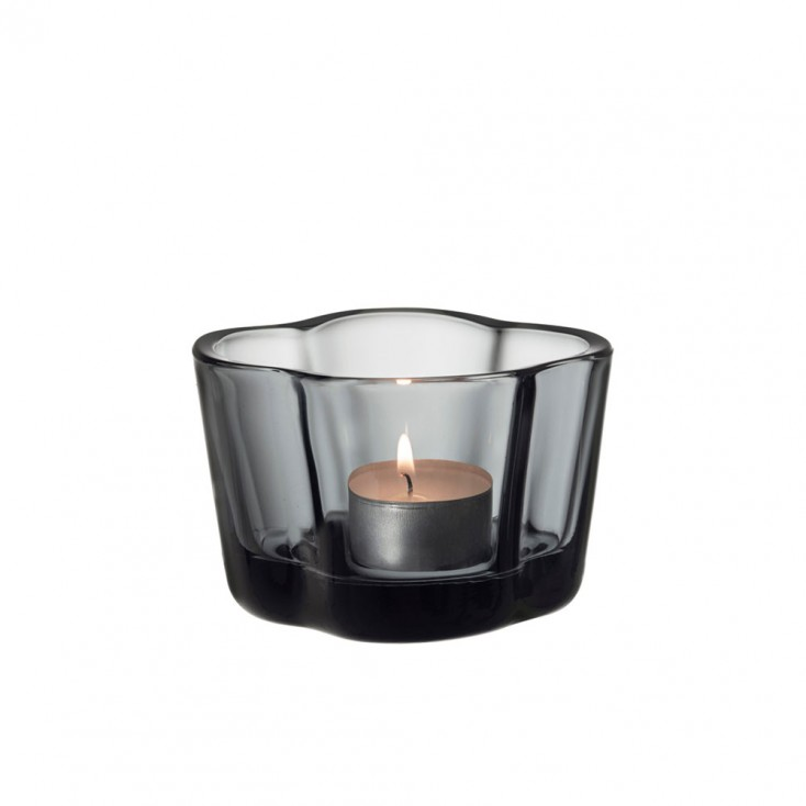 Iittala Alvar Aalto Collection Tealight Candleholder - Grey