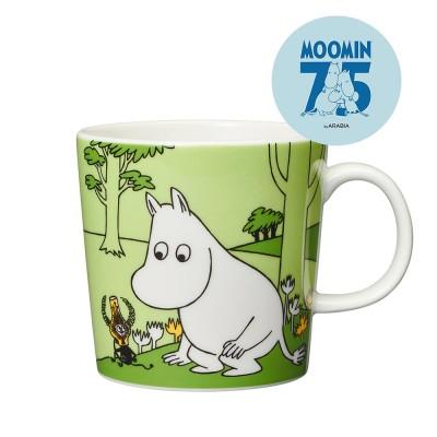 Arabia 75th Anniversary Moomin Mug - Moomintroll Grass Green
