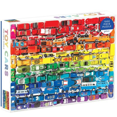 Rainbow Toy Cars 1000 Piece Puzzle