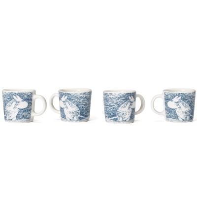 Arabia Moomin Mini Mugs - Snow Blizzard Set of Four