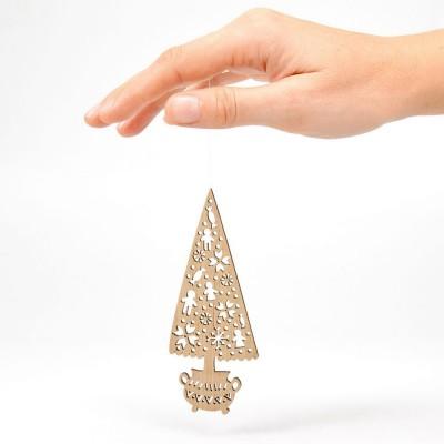 Etno Design Hanging Decoration - Christmas Tree