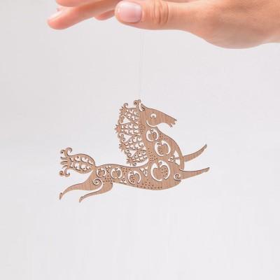 Etno Design Hanging Decoration - Snow Horse