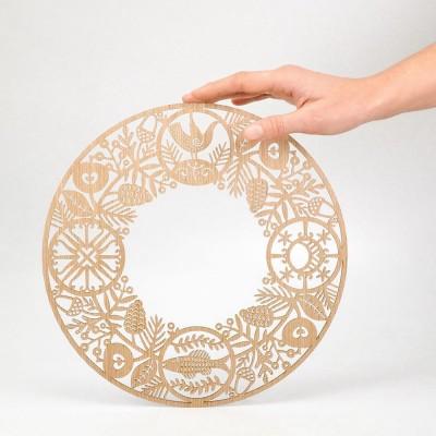 Etno Design Hanging Decoration - Wreath Of Fullness Ø 29 cm