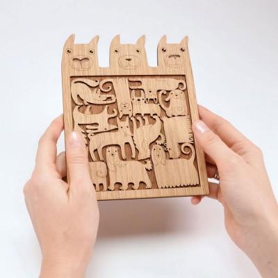 Etno Design Puzzle Trivet - Dogs