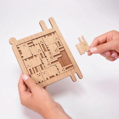 Etno Design Puzzle Trivet - Bunnies