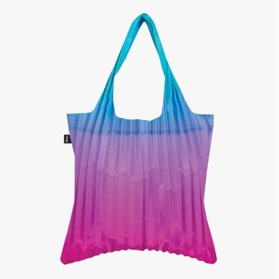 LOQI Pleated Rainbow Blue Bag