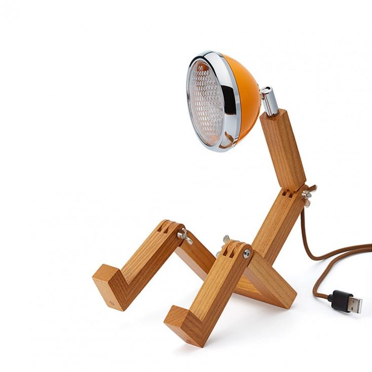 Mini Wattson LED Table Lamp - McLaren Orange