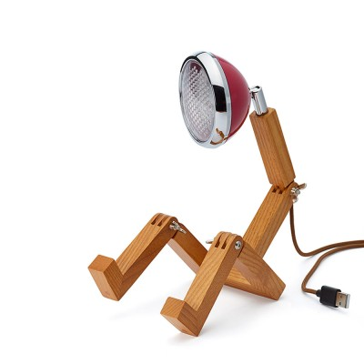 Mini Wattson LED Table Lamp - Cherry Red