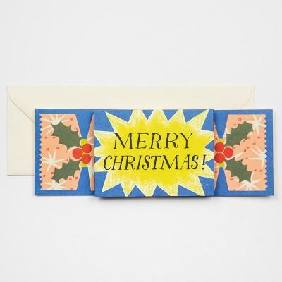 Starburst Christmas Cracker Greeting Card