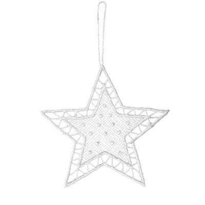 Juna White Lace Star Hanging Decoration